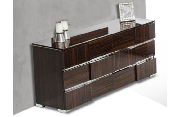 Picasso Italian Modern Lacquer Dresser Brown