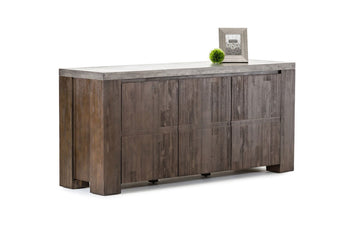 Urban Modern Concrete Top Buffet