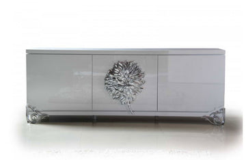 Emma White Lacquer Modern Buffet