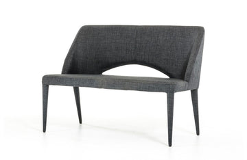 Williamette Modern Fabric Bench Gray