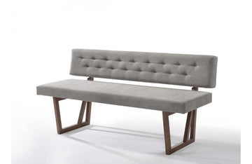 Jordan Modern Gray & Walnut Dining Bench