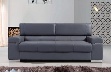 Vista Gray Modern Leather Sofa