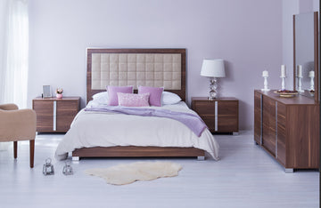 Viola Walnut Modern Bedroom Set