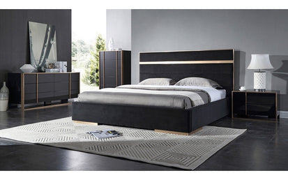 Bedroom Sets Modern | Cartier Modern Black Brushed Bronze Bedroom Set