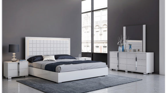 Viola White Modern Bedroom Set