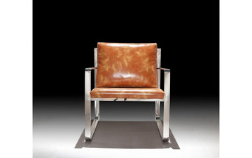 Divani Casa Apex Modern Brown Leatherette Accent Chair