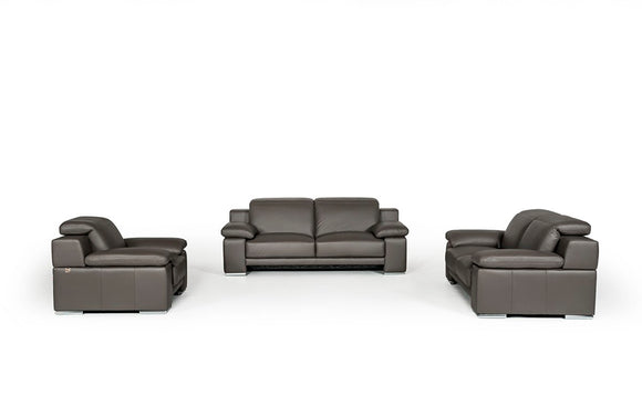 Derek Modern Leather Sofa Set