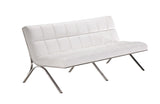 Alejandra Modern White Leatherette Sofa Set
