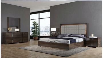 Viola Modern Grey Bedroom Set