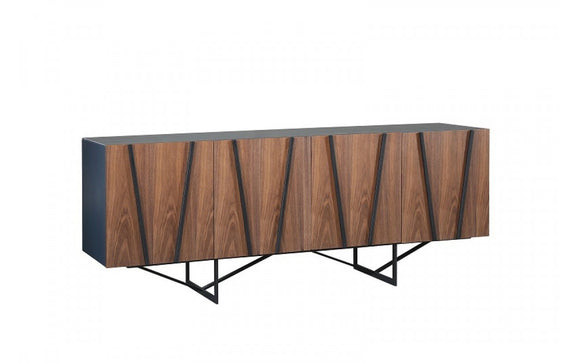 Modrest Strand Modern Walnut & Grey Buffet