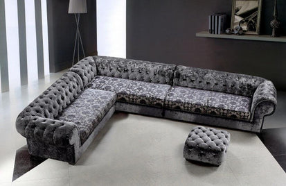 Marvelous Lilliana Transitional Fabric Sectional Sofa Ottoman Buy Gmtry Best Dining Table And Chair Ideas Images Gmtryco