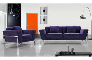 Annabella Modern Fabric Sofa Set