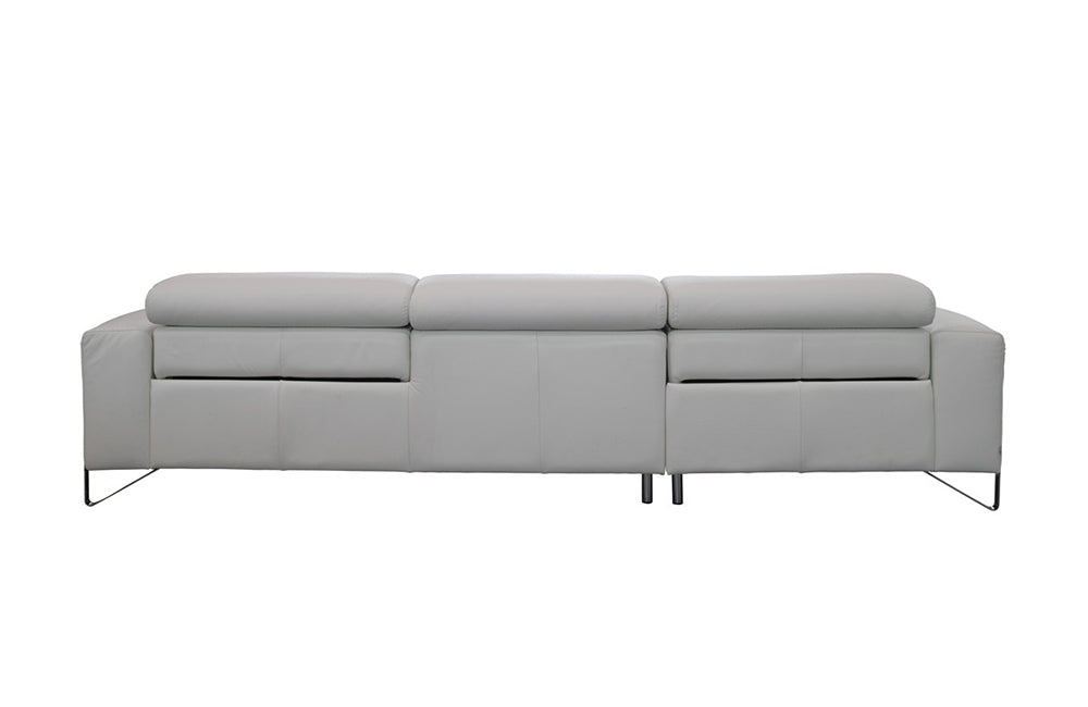 Phenomenal Emilio Italian Modern White Leather Sofa W Recliners Ocoug Best Dining Table And Chair Ideas Images Ocougorg
