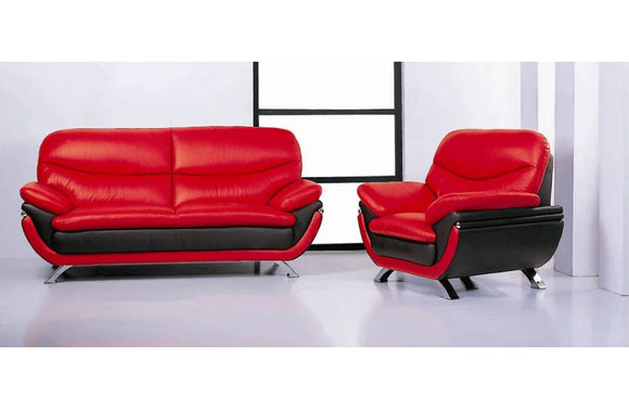 Makarios 2PC Living Room Set Red