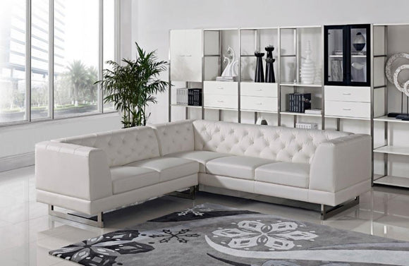 Windsor Modern Leatherette Sectional Sofa