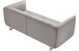 Travis Modern Grey & Yellow Fabric Sofa Set