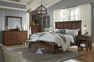 Oxford Panel Bed Whiskey Brown