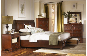 Richmond Sleigh Bed with Storage Footboard