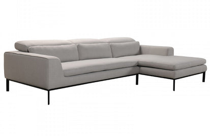Adeline Modern Fabric Sectional Sofa -Buy ($2699) in a modern ...