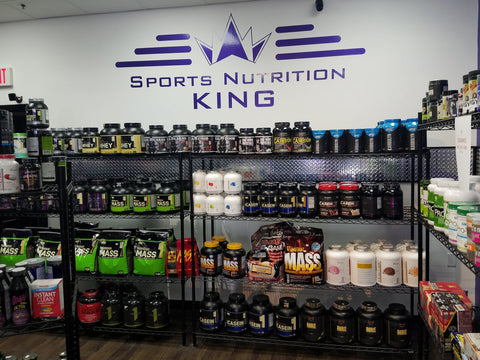 Sports Nutrition King logo wall