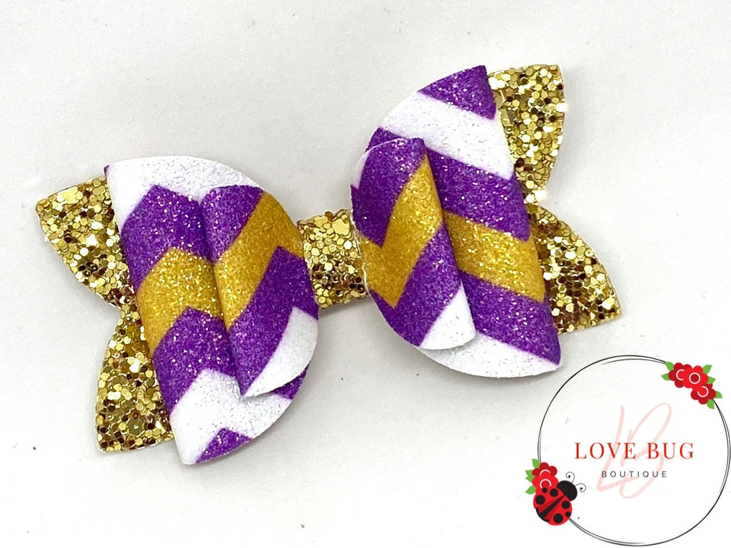 LSU Tigers Chevron - Double Purple/Gold
