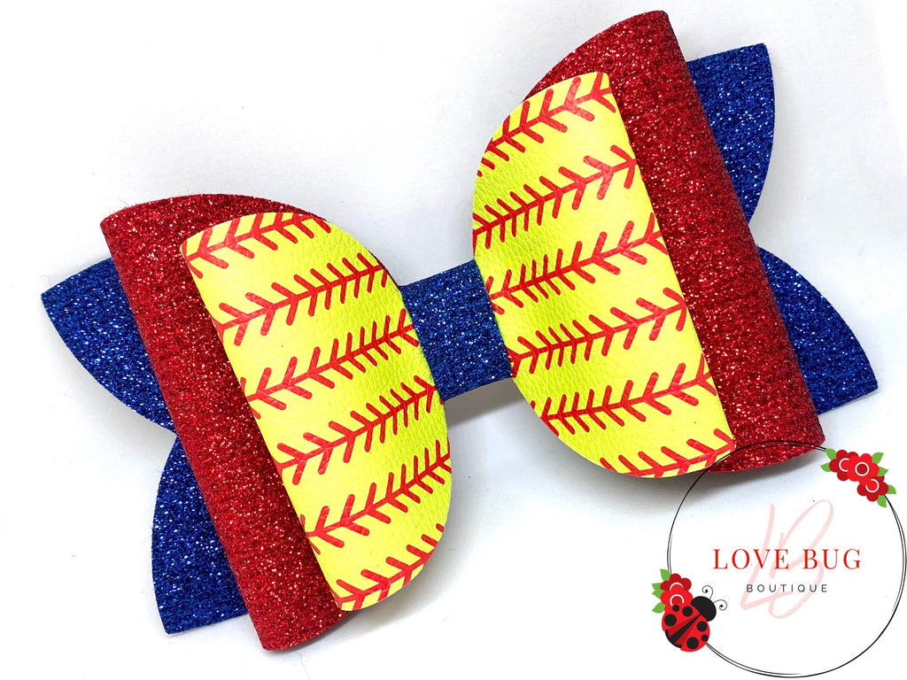 CREATE YOUR OWN - Softball Stitches Leather