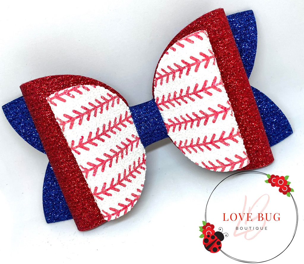 CREATE YOUR OWN - Baseball Stitches Glitter