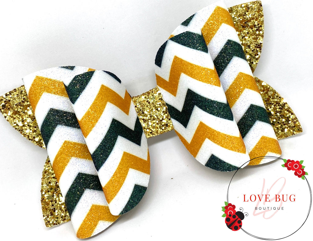 Green Bay Packers Chevron - Dark Green/Gold/White
