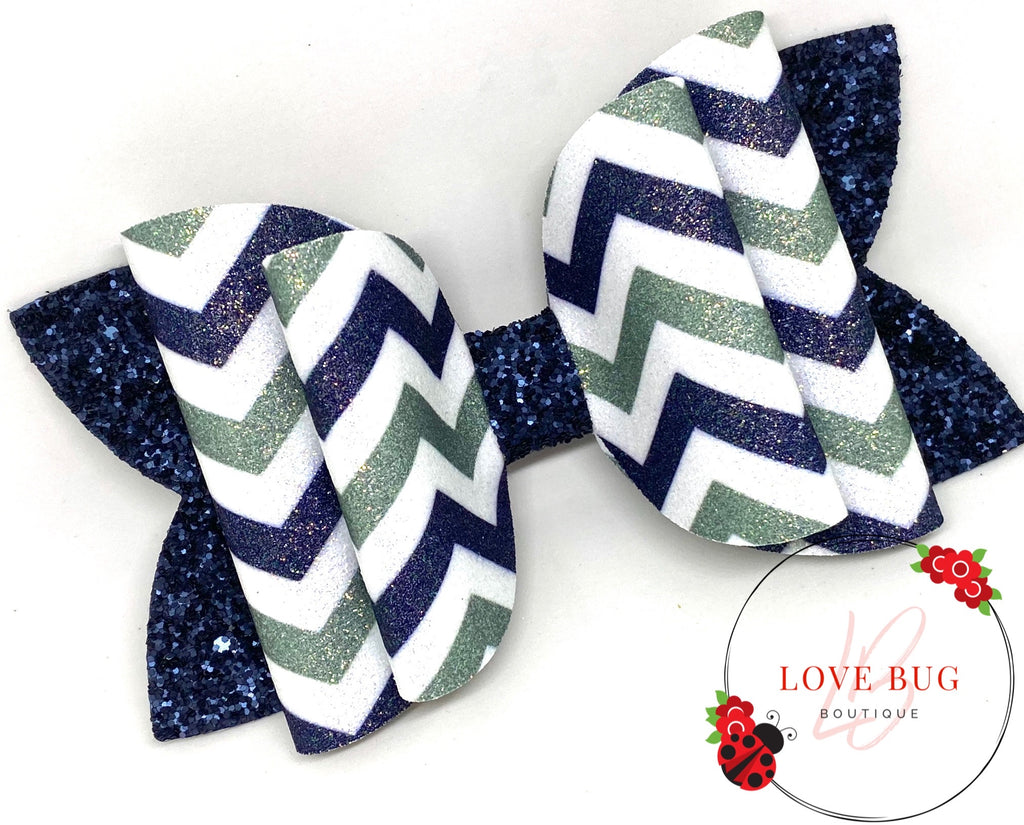 Dallas Cowboys Chevron - Blue/Silver-Green/White