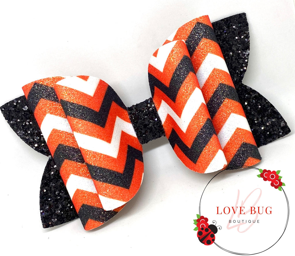 Cincinnati Bengals Chevron - Double Orange/Black