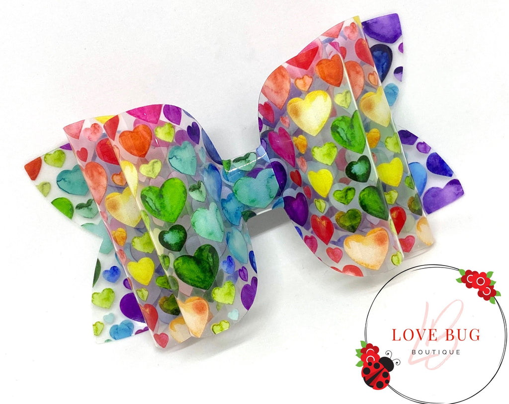 Rainbow Hearts Jelly