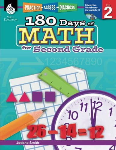180 Days of Math for Second Grade – 2nd Grade Problem Solving Workbook for Ages 6-8, Children's Math Workbook for Grade 2 (180 Days of Practice)
