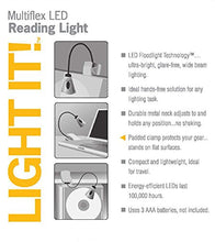 Light It! By Fulcrum 20010-301, Clip On LED Book Light, 12 Inch, Silver