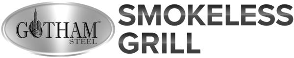 Gotham Steel Smokeless Grill + Free Quad Kabob & Recipe Guide