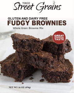 Fudgy Brownies - Dairy and Gluten Free Whole Grain Mix