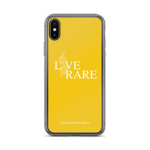 L*VE RARE iPhone Case (Yellow)