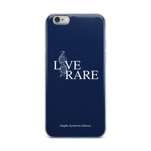 L*VE RARE iPhone Case (Blue)