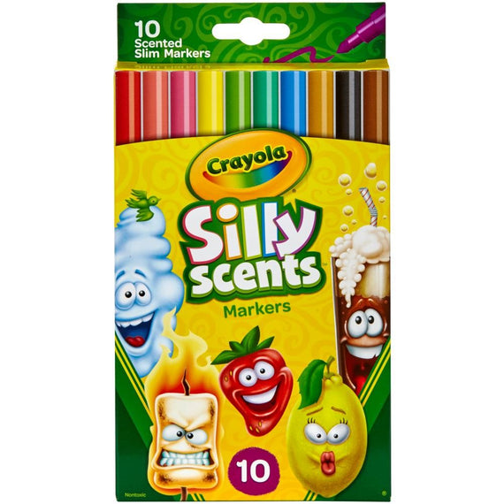 Crayola Silly Scents Fine Line Washable Markers 10/pk
