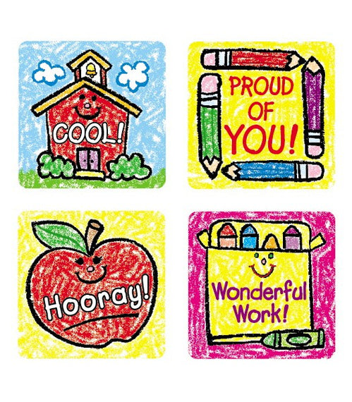 School Days: Kid-Drawn Motivational Stickers