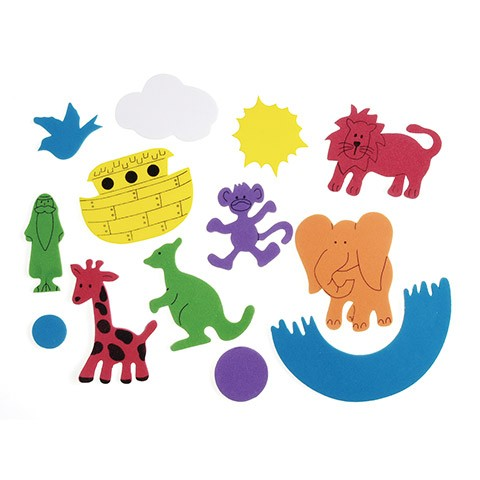 Foam Animal Sticker Bucket - Noah's Ark - 5 Oz