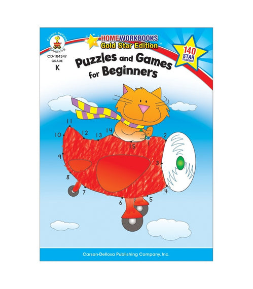 Puzzles and Games for Beginners Activity Book