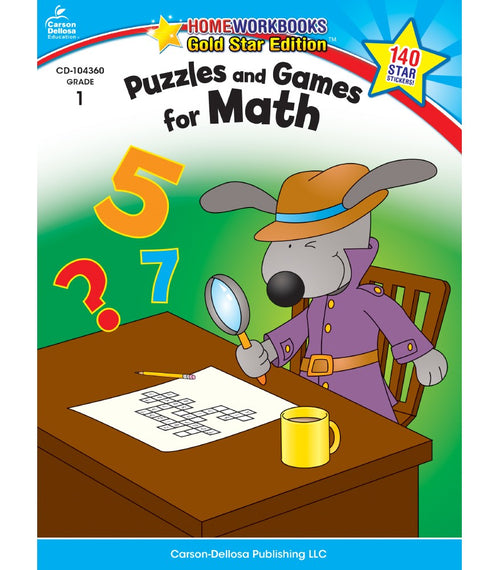 Puzzles and Games for Math Activity Book