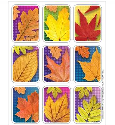 Leaves Giant Stickers 4/sheets