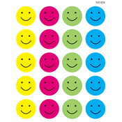 "Happy Faces Stickers 1"" 6/sheets"