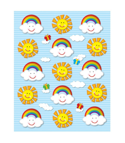 Suns & Rainbows Shape Stickers 6/sheets