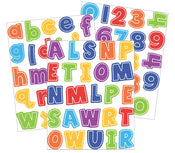 School Tools Letters and Numbers Sticker Pack