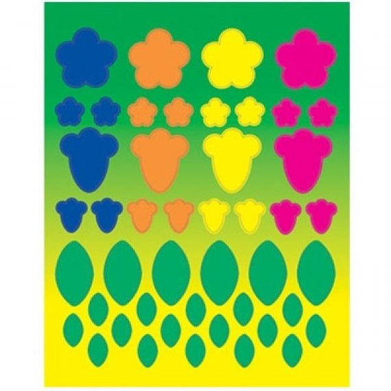 Floral Shapes Stickers