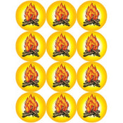 Bonfire Stickers 1 1/2""