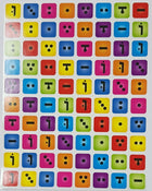 "Nikudat Colored Square Stickers 1/2"" 10/pk"