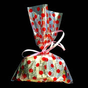 "6X9"" printed cello bag-100/pk, DOT-RED"